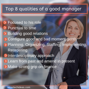 Top 8 qualities in a good manager
