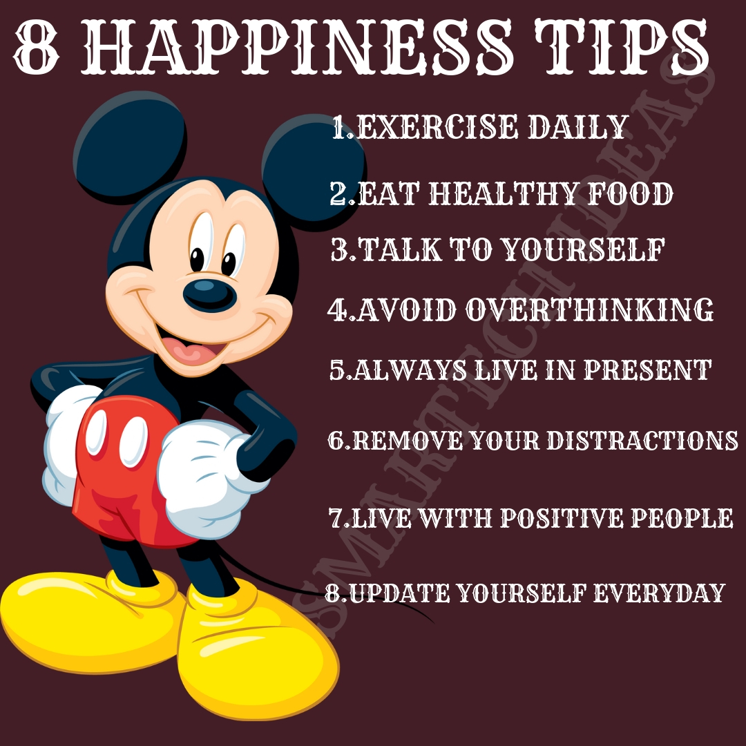 Top 8 ways to stay happy in life