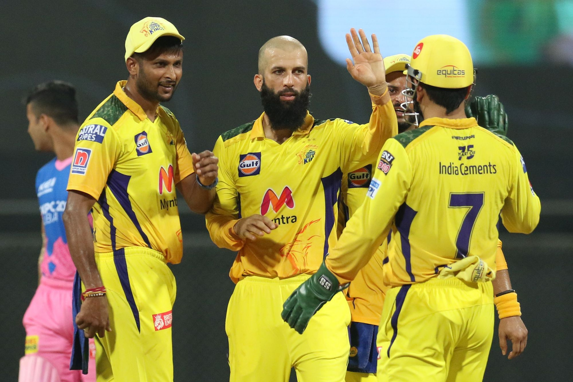 IPL 2021 : CSK vs RR : Chennai Super Kings beat Rajasthan Royals by 43 runs | Jadeja and Moeen shine