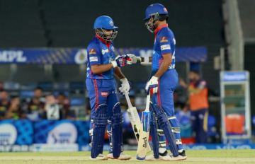 DC vs KKR : Delhi won by stormy innings of Prithvi Shaw and Dhawan