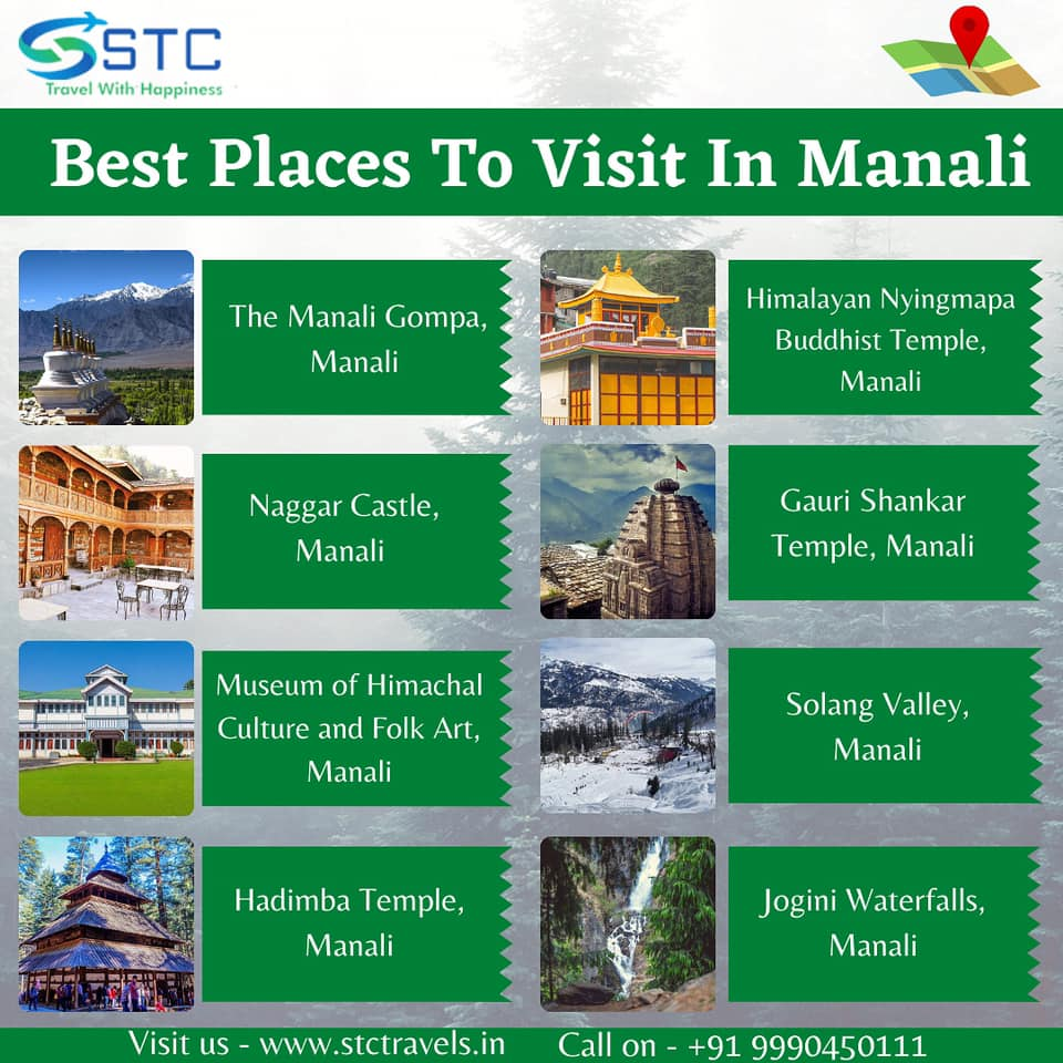 Explore Today ! Best Places to visit in Manali !